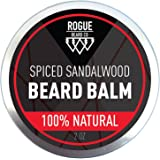Beard Balm by Rogue Beard Company - Sandalwood Leave In Conditioner with Natural Oils for Moustache Grooming and Beard Growing for Men - Best Beard Balm - 2 oz