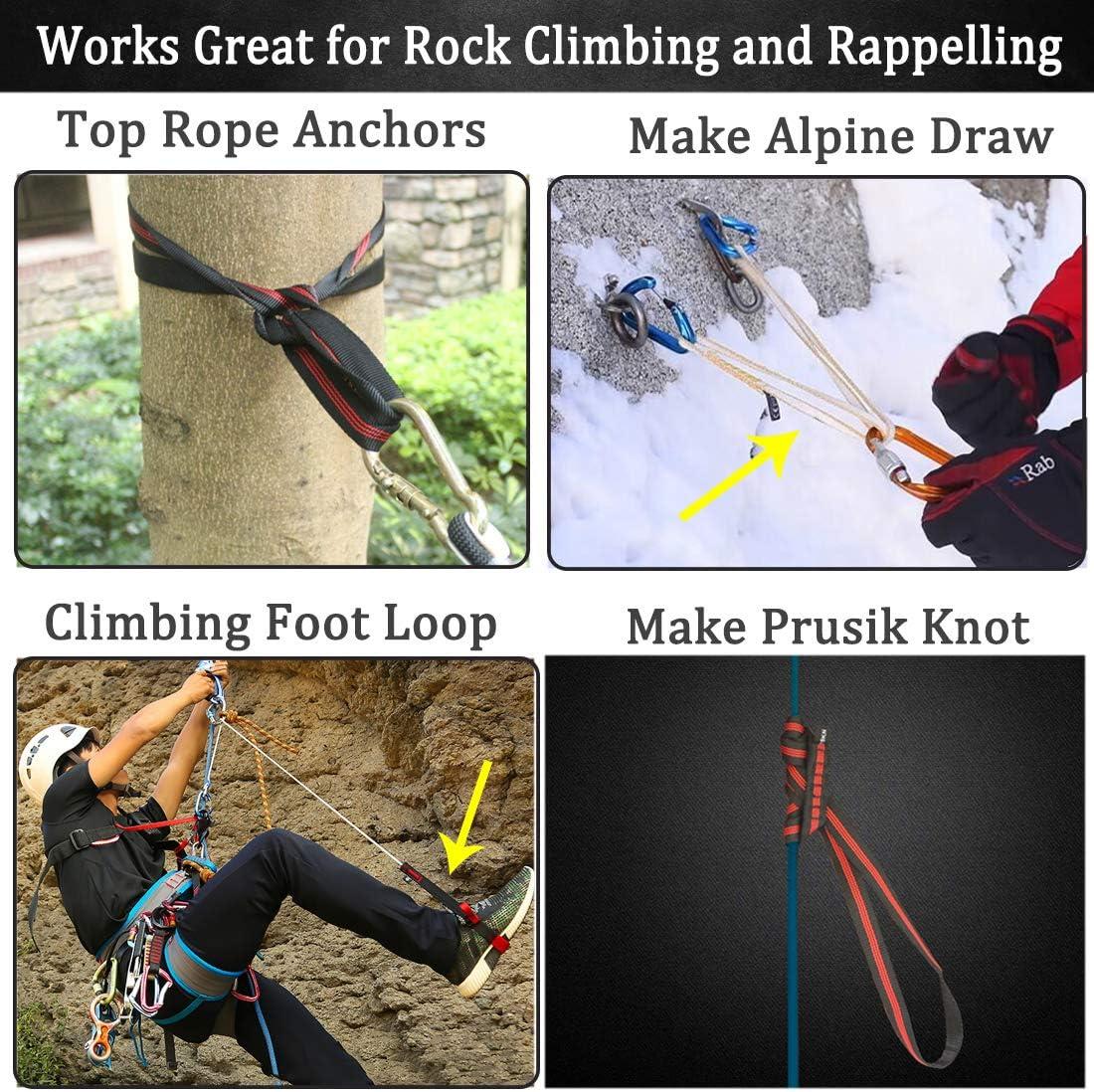 Rock Tree Climbing Webbing Sling for Tree Surgery Rigging Rescue Climbing