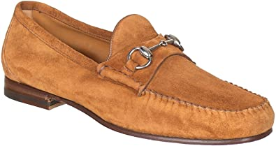 aa9feb25aa0 Gucci Men s Brown Unlined Suede Horsebit Loafers Shoes