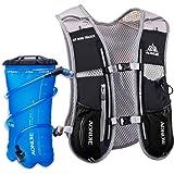 LERMX Lightweight Running Hydration Vest Pack 100oz Storage Pocket With 50oz Bladder for Hiking Marathon Biking Clothes Fits Women Men Safety Gear