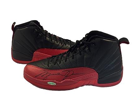 Michael Jordan Autographed Air Jordan 12 Shoe Upper Deck ... eec31c30bca1