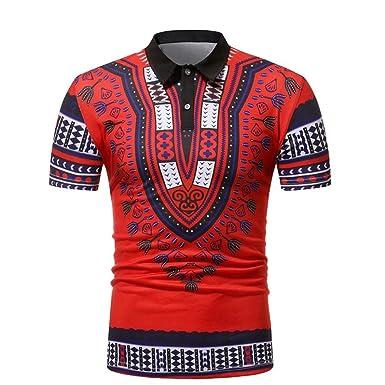 54c3e7f57b586 Camisetas Africanos Hombre con Estampado De ÉTnica LHWY