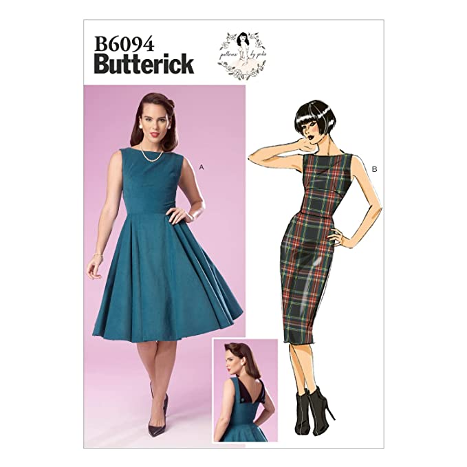 1950s Sewing Patterns | Dresses, Skirts, Tops, Mens BUTTERICK PATTERNS B6094 Misses Dress Size E5 $10.81 AT vintagedancer.com