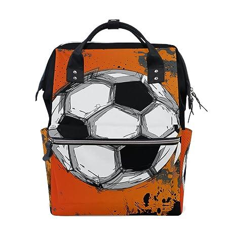 COOSUN Grunge - Mochila de viaje, diseño de balón de fútbol, gran ...