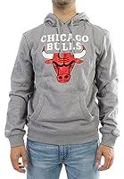 Mitchell & Ness NBA Chicago Bulls Team Logo Hoody Grey Hoodie Sweater Herren Men