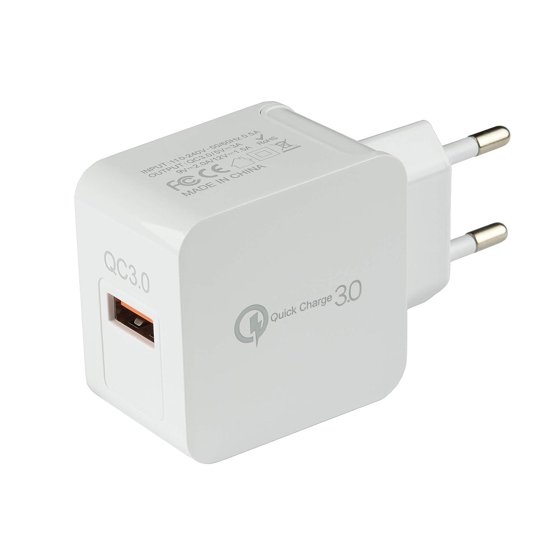 Tecnan Carga Rápida 3A Cargador USB 3.0 | 18W AC Adaptador ...