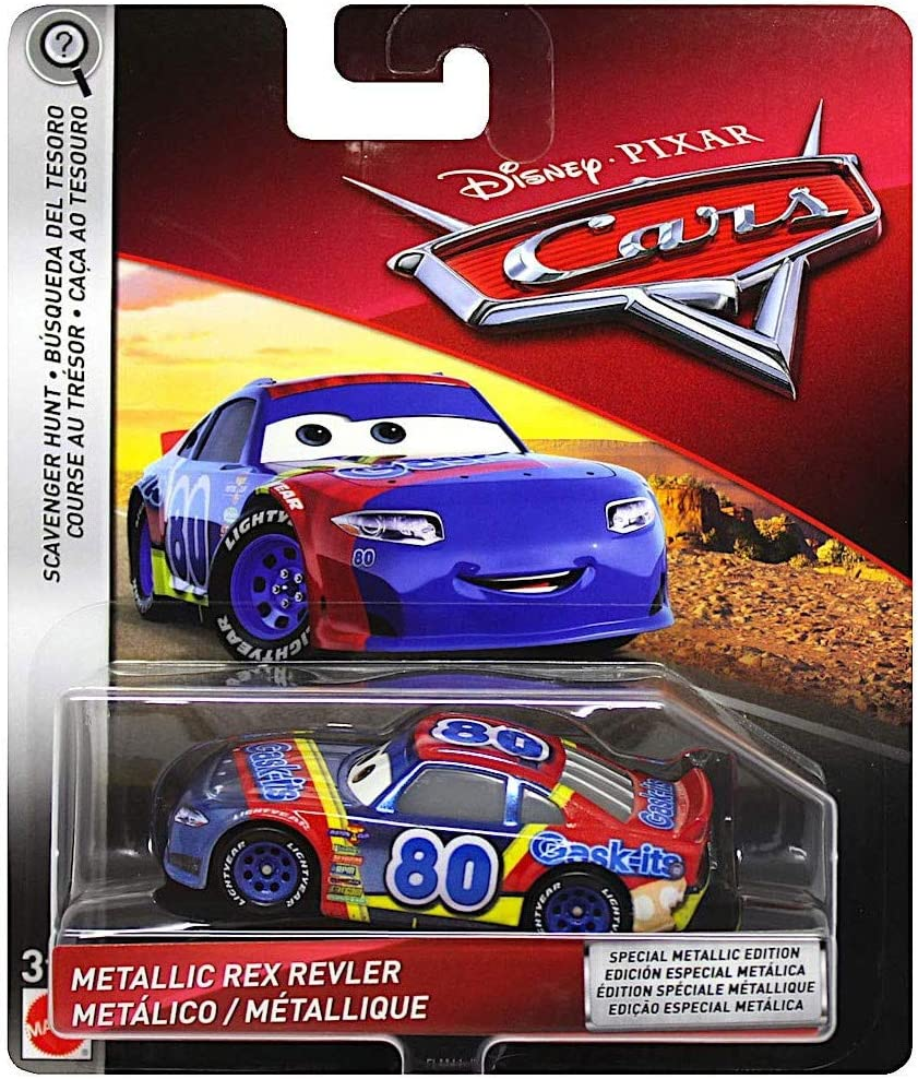 Disney Pixar Cars Metallic Rex Revler