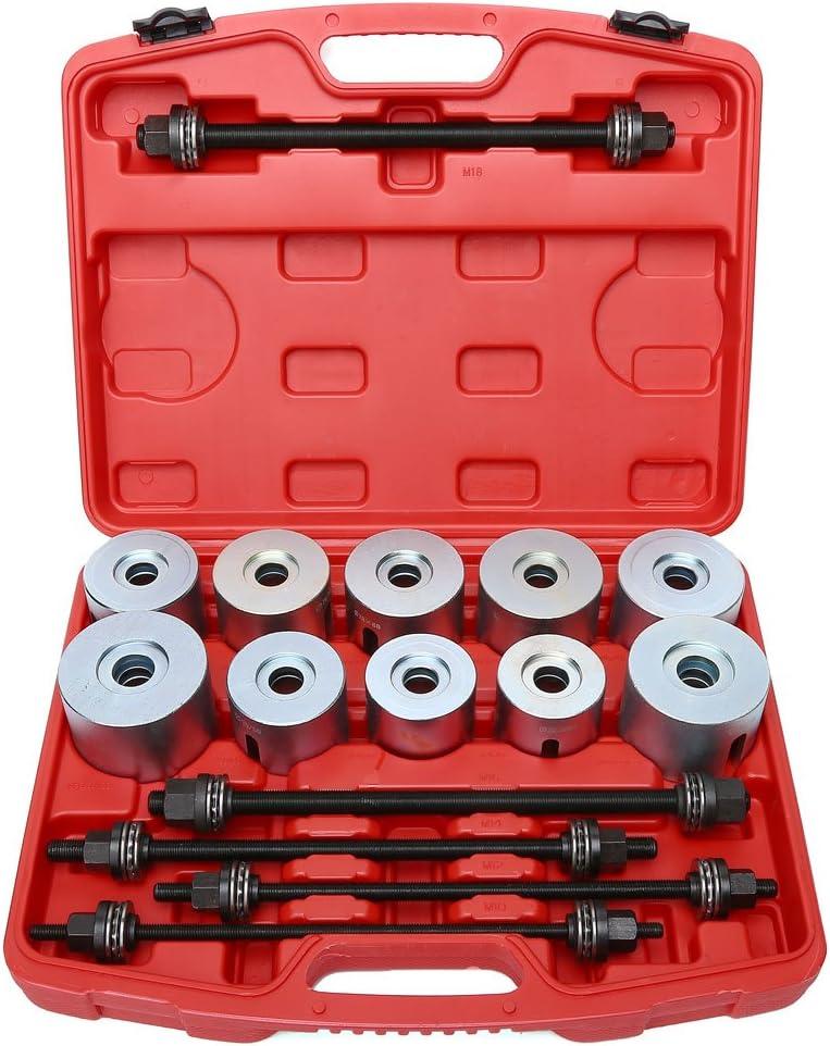 TRIL GEAR 27pc Universal Press /& Pull Sleeve Kit Bush Bearing Removal Insertion Garage Tool Set