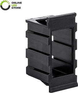 ONLINE LED STORE Rocker Switch Panel Center Piece [Fits Switch Panel] [Interlocking Design] for Expanding Rocker Switch Panels
