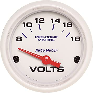 "Autometer Ultra-Lite 2-1//16/"" Voltmeter 8-18V Air-Core Gauge"