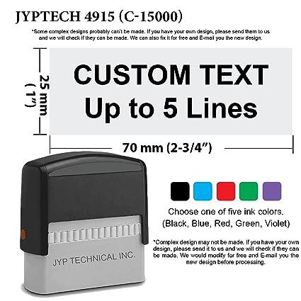 amazon com trodat 4915 1 x 2 3 4 custom self inking stamp