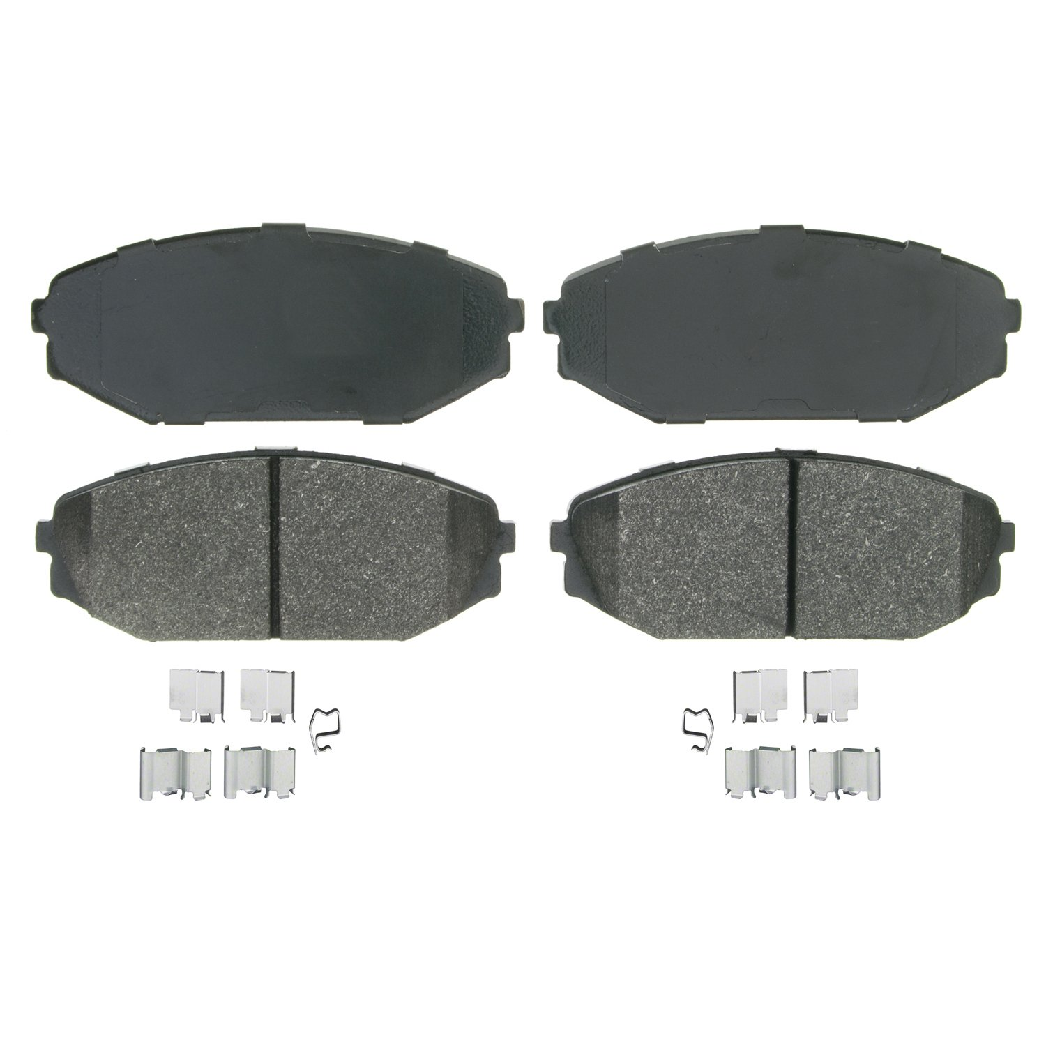 Wagner QuickStop ZX793 Semi-Metallic Disc Pad Set Includes Pad Installation Hardware Front