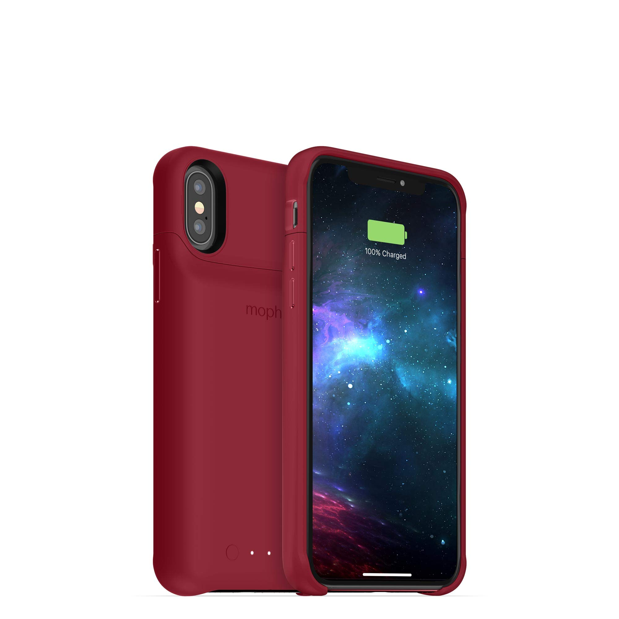 mophie Juice Pack Access - Ultra-Slim Wireless Battery Case - Made for Apple iPhone Xs/iPhone X (2,000mAh) - Dark Red by mophie