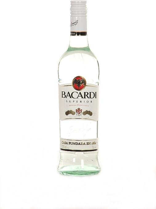 6 x botellas de Ron Bacardi carta blanca superior Color Blanco ...