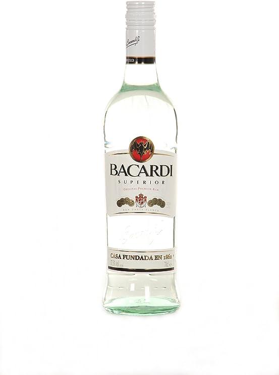 6 x botellas de Ron Bacardi carta blanca superior Color ...