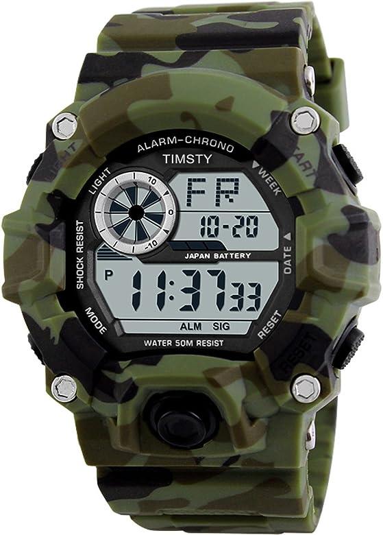 Amazon.com: Timsty Reloj digital deportivo impermeable para ...