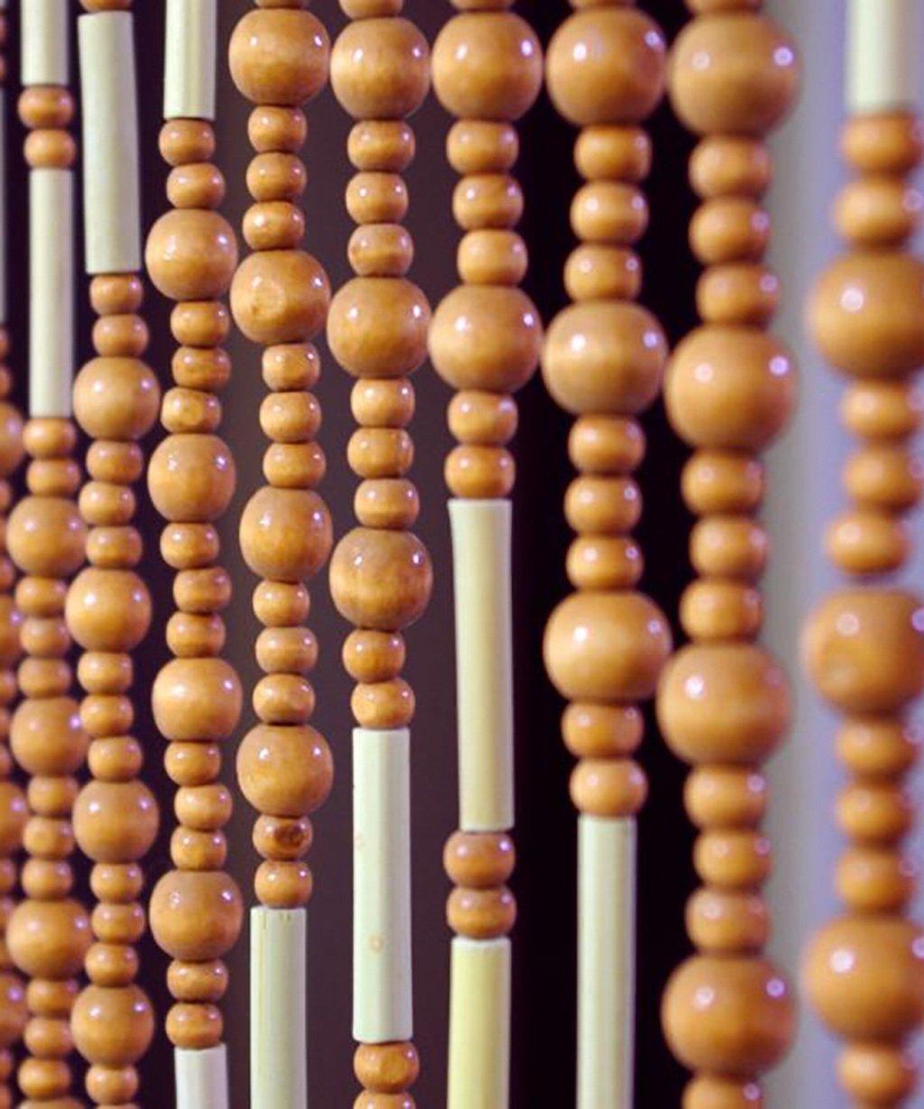 WUFENG Sommer Zimmer Tür Fenster Bambus Hölzern Perlenvorhang Türvorhang Fadenvorhang Fadenstore Raumteiler Anti-Moskitos Vorhänge (größe   90  180cm)