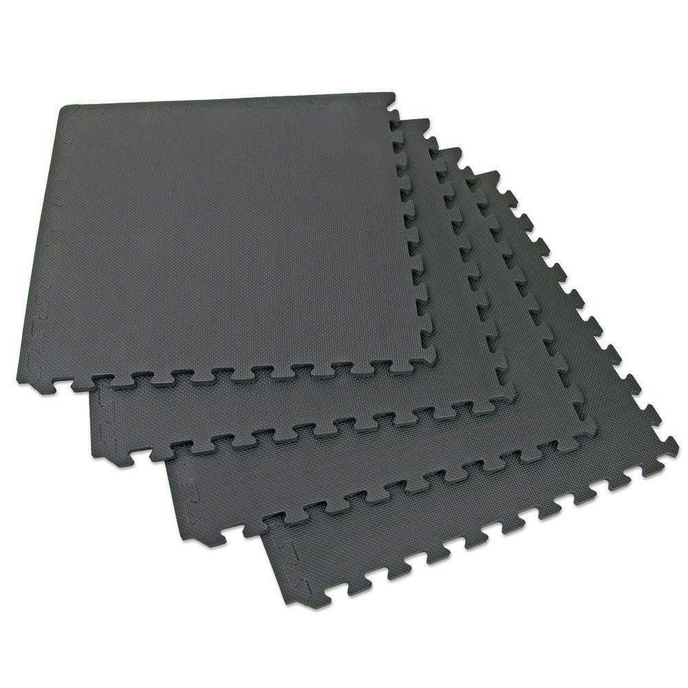 Sandal Stars Foam Exercise Play Area Black Interlocking Tiles Floor