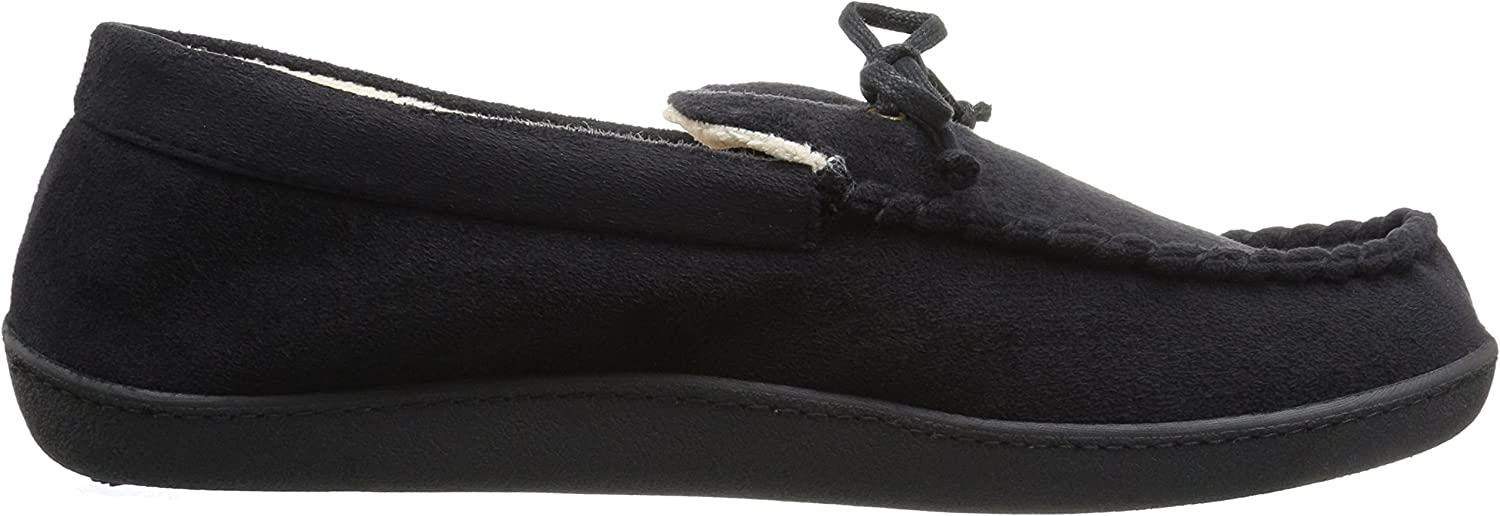 Isotoner Mens Whipstitch Gel Infused Memory Foam Moccasin