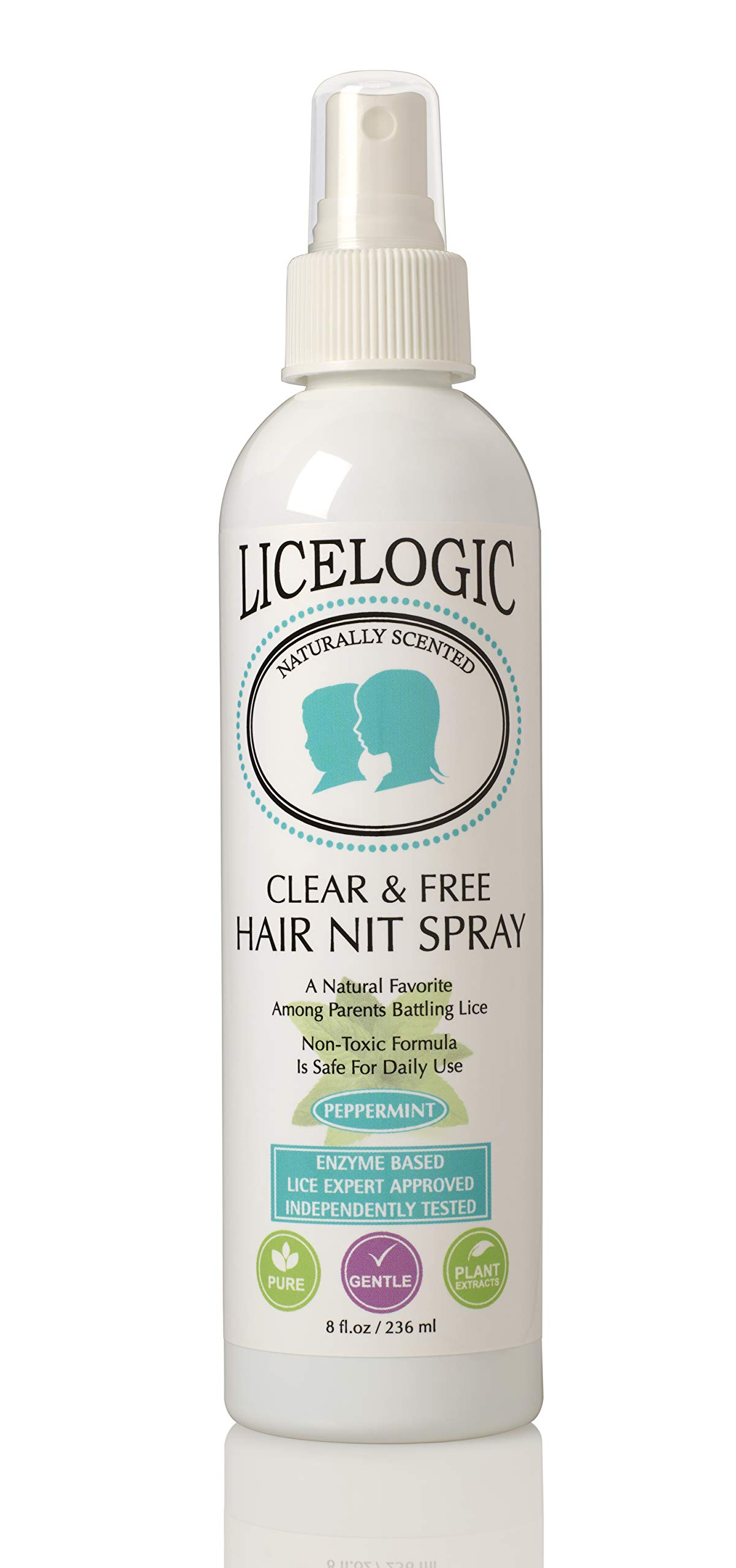 Lice Treatment Hair Spray to Kill Lice and Nits - Non-Toxic Formula Safe For Daily Use with No Harsh Chemicals, 8 oz by Logic Products