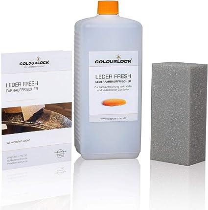 COLOURLOCK® Leder fresh Tinte para cuero (pintura para cuero) 1000 ml adecuado para Mercedes-Benz, elimina los arañazos, la decoloración y el desgaste ...