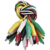 Hicarer 10 Pieces and 5 Colors Test Lead Set with Alligator Clips Double-ended Jumper Wires