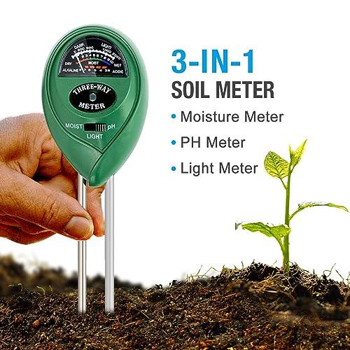 3in1 361447 Ph Moisture Silverline 3-in-1 Soil Tester 210mm
