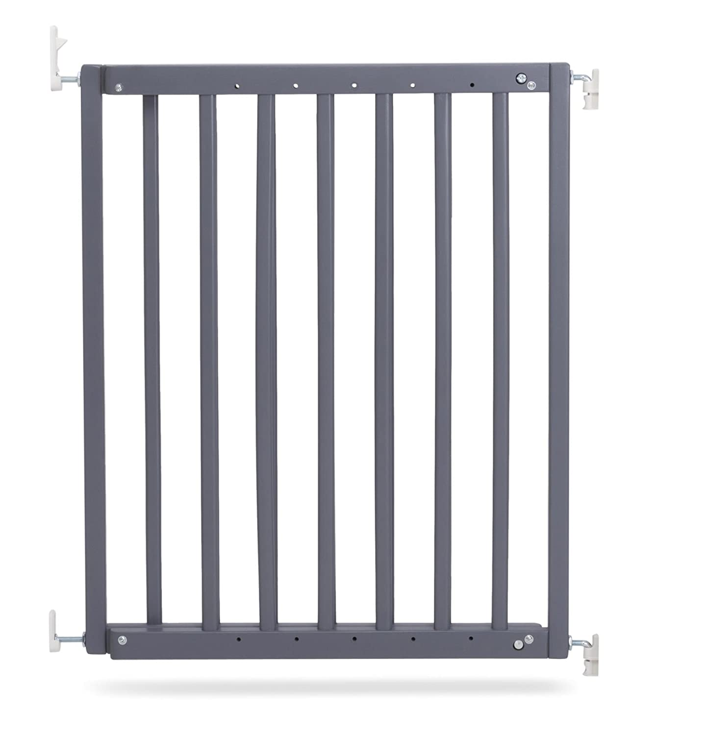 Safetots Chunky Wooden Screw Fit Stair Gate (Medium, Grey)