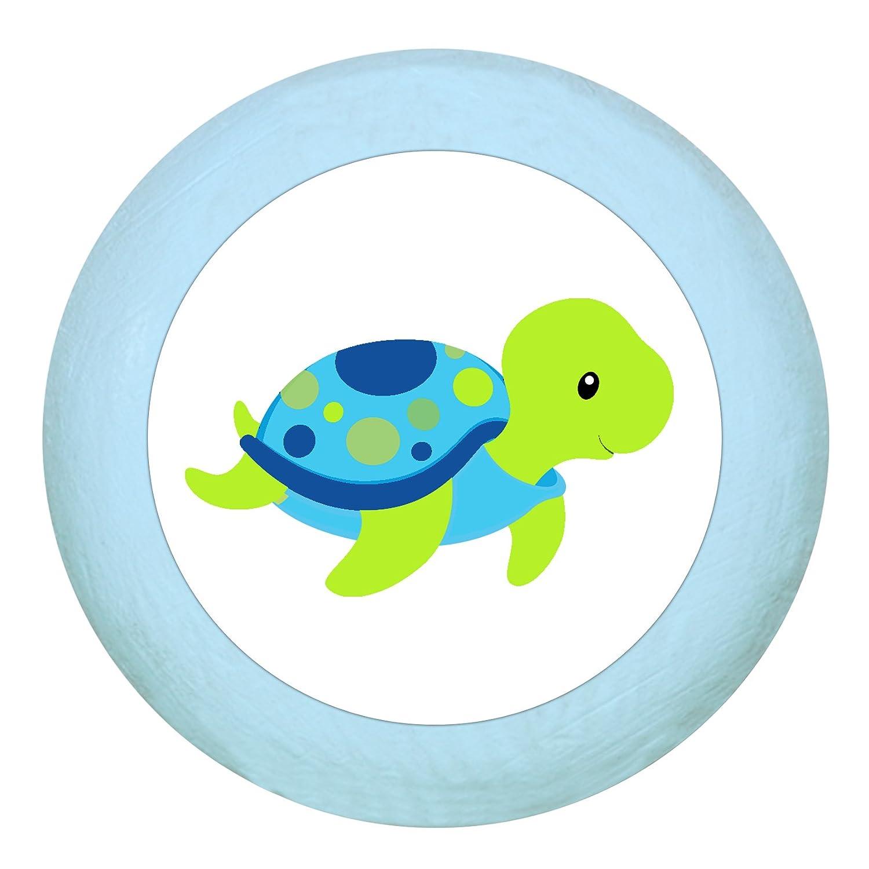 TürknaufWasserschildkröte dunkelblau Holz Kinder Kinderzimmer 1 Stück Meerestiere Traum Kind
