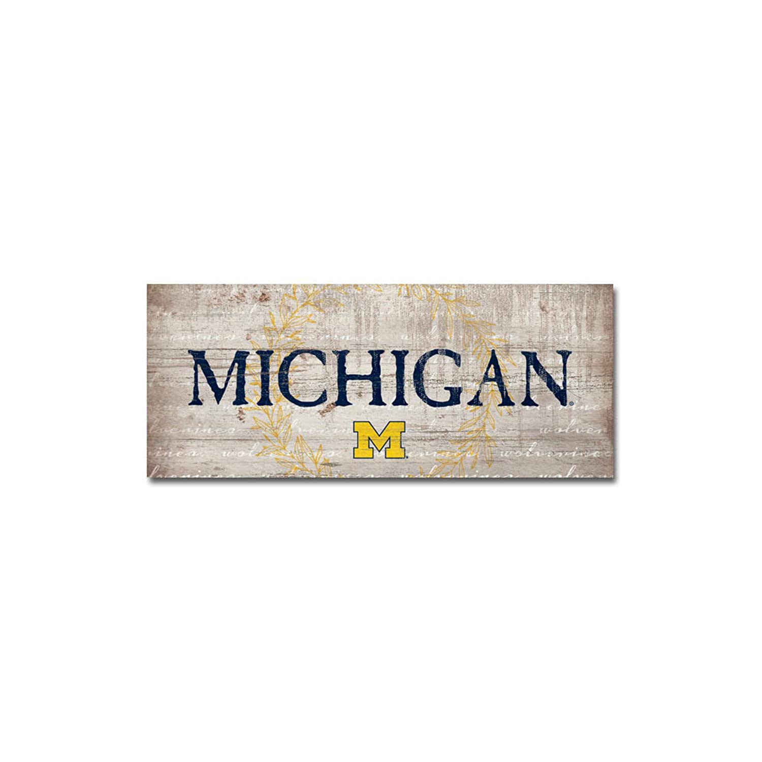 NCAA Fan Shop Michigan Wolverines Legacy Mini Table Top Stick 2.5x6 One Size Wood