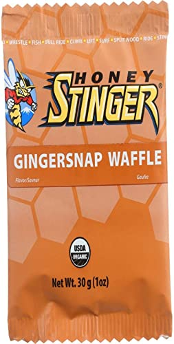 Honey Stinger Food Ginger Snap Waffle Box of 16