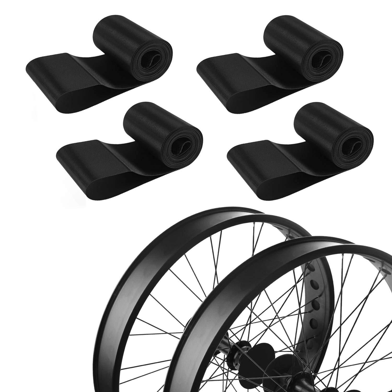 N\A 4 Pack PVC Bicycle Wheel Rim Tape Bike Tire Rim Tape 26 Bike Tire Liner Prevent Tire From Puncturing by Glass Thorns
