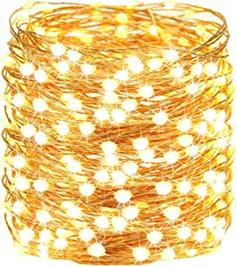 72FT 200 LED Christmas String Lights Outdoor/Indoor, Upgraded Super Bright Fairy Lights Plug in, Outdoor Waterproof 8 Modes Decorative Lights for Christmas Tree Party Wedding Bedroom (Warm White)