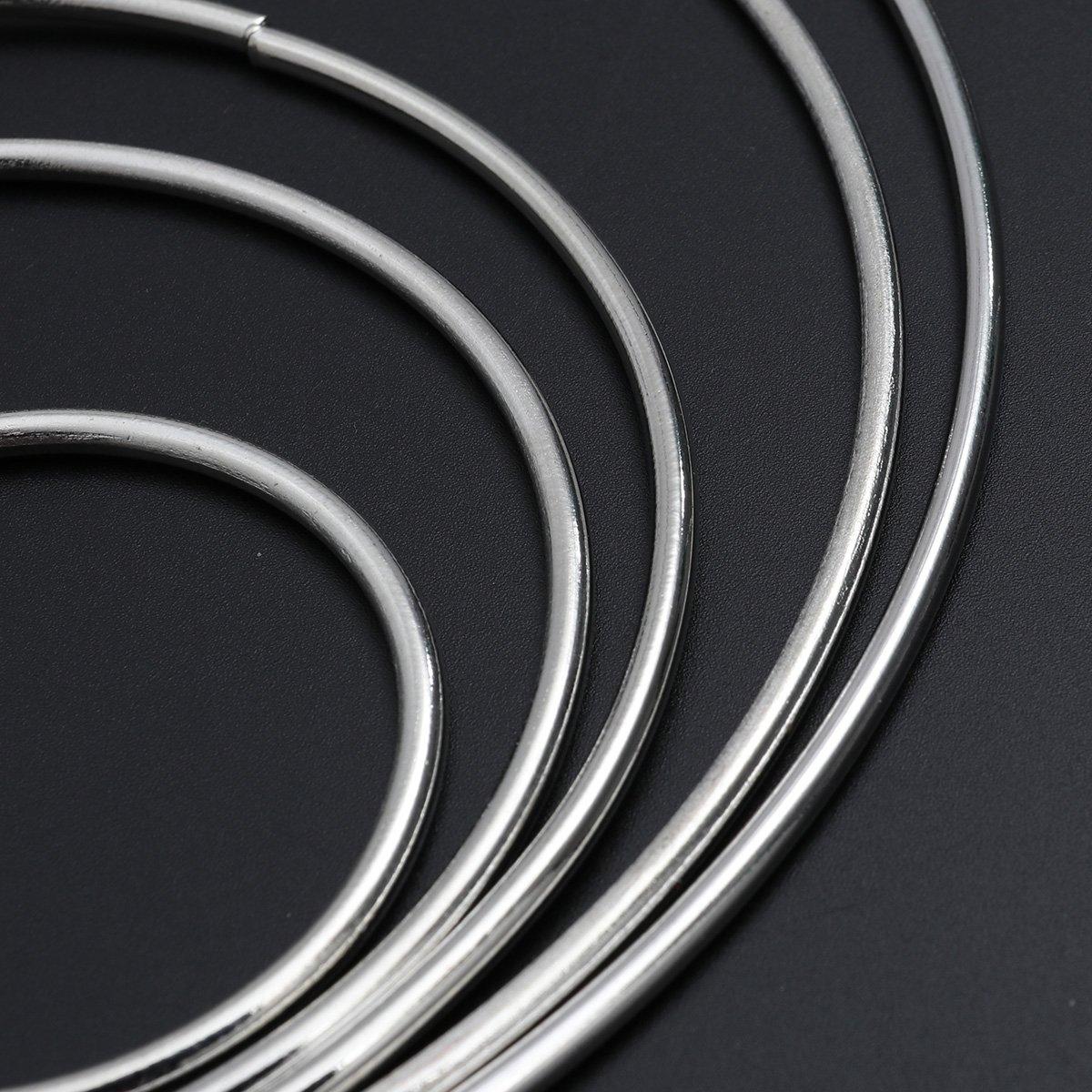 plata ULTNICE 10/pcs multi-taille Dreamcatcher redondo plata Metal anillo anillo para DIY artesan/ía dise/ño de la casa
