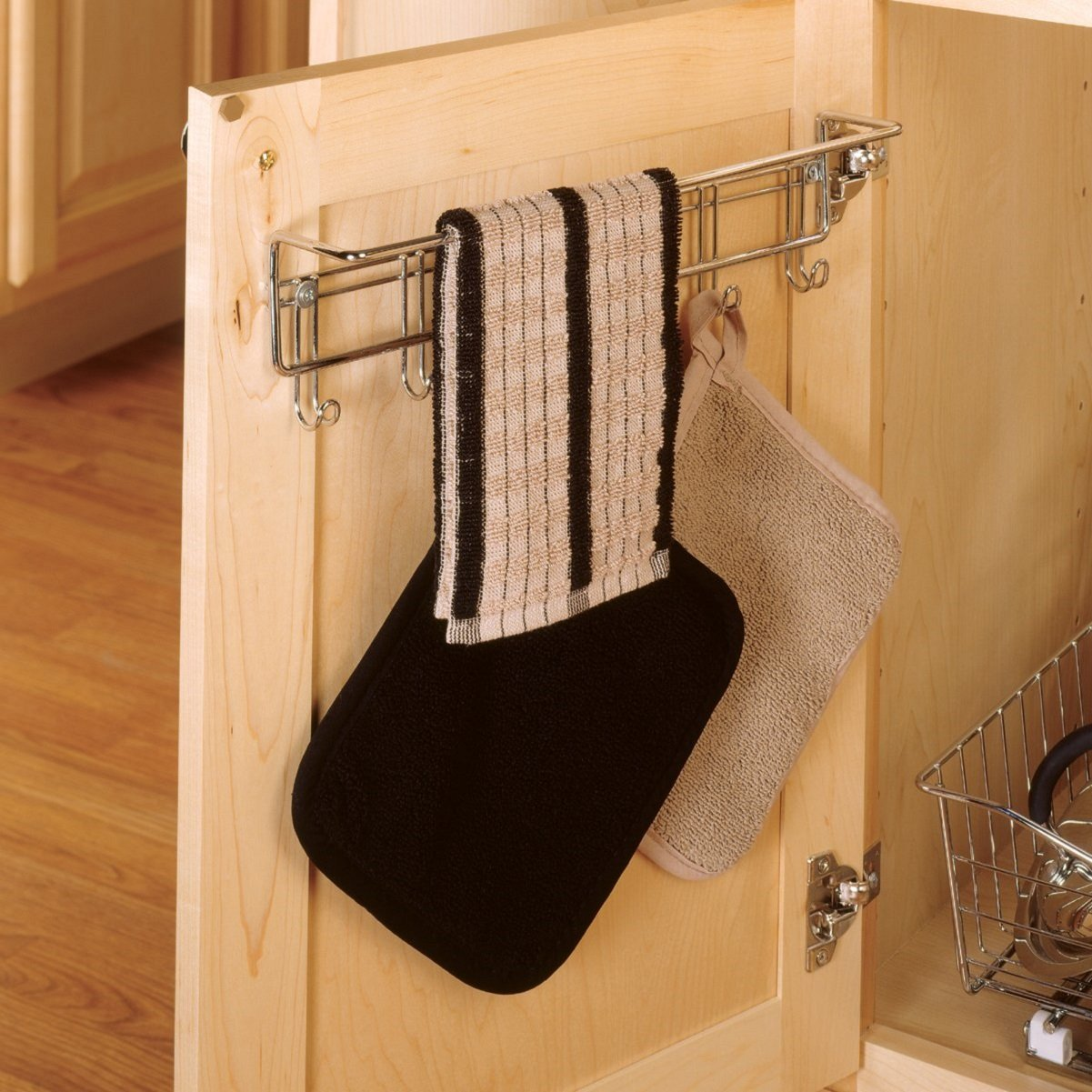Uncategorized Dish Towel Rack amazon com closetmaid 3064 6 hook towel rack chrome home kitchen