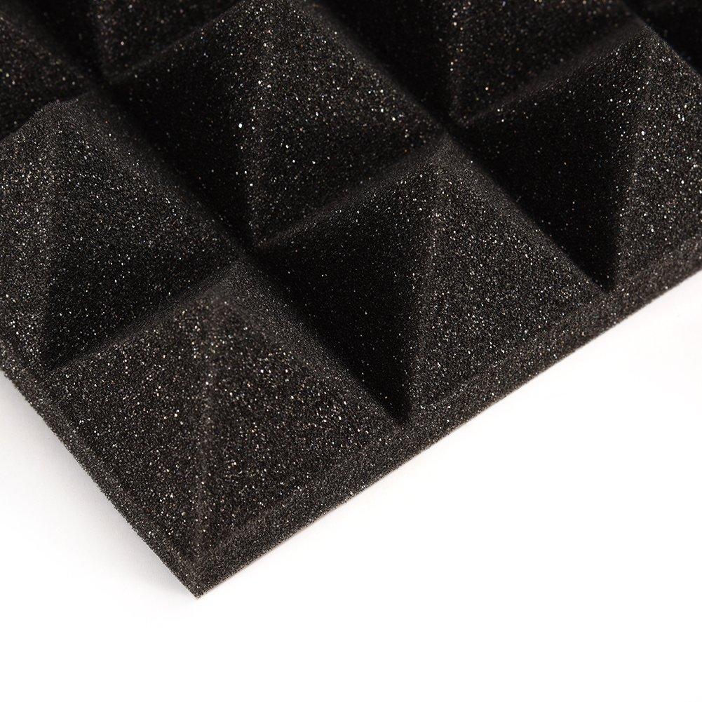 C LianLe 30*30cm Panneau Acoustique en Mousse Pyramidale Isolation Phonique pour Studio