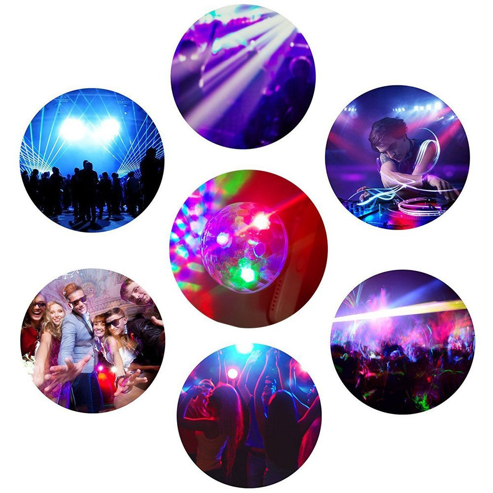 ️ Yu2d ❤️❤️ ️for iPhone Phone Mini Disco Light Portable Home Party Light DC 5V Disco Ball
