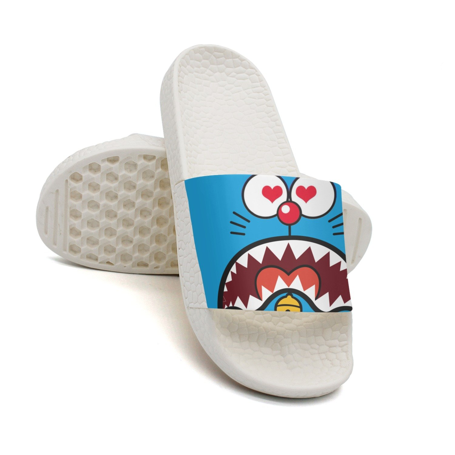 Love You Funny Robotic Kitty Cat Face Mens Flip Flops Low Top Customize White