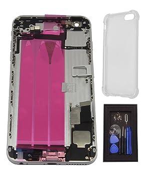 iRenovo® Carcasa Trasera Chasis para iPhone 6 Plus Plata ...