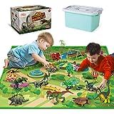 Dinosaur Toys - 12 Pcs Dinosaur Figures, Activity Play Mat & Trees for Creating a Dino World Including T-Rex…