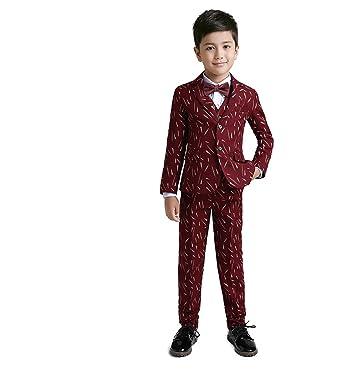 Amazon.com: Yuanlu Boys Suits For Youth Kids Weddings Dress Wear ...