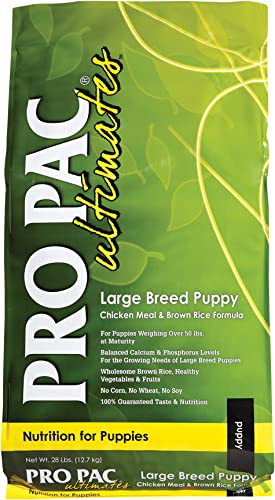 Pro Pac Ultimates Large Breed Puppy Chicken Meal And Brown Rice Dry Dog Food, 28 Lb.