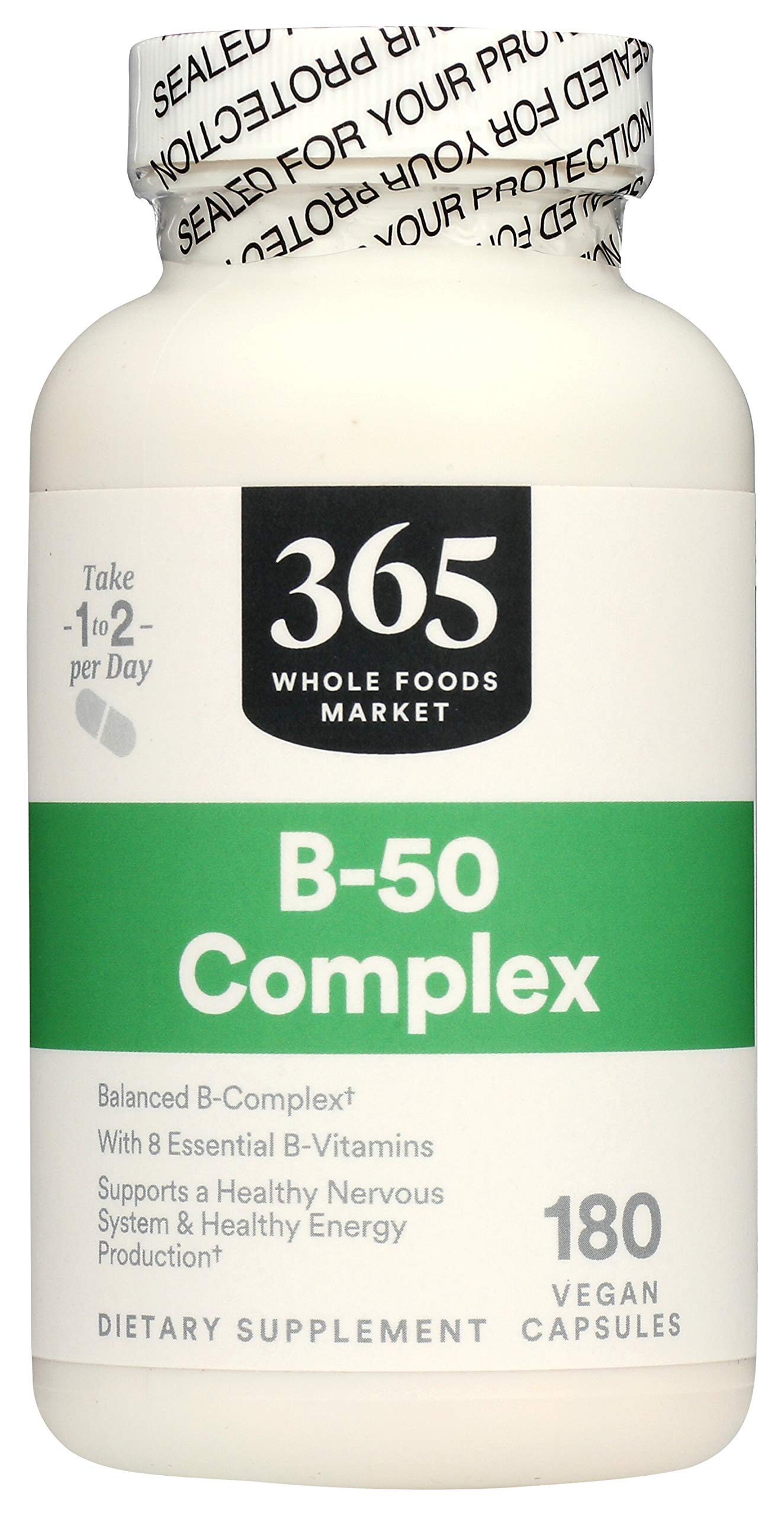 365 by Whole Foods Market, Supplements - Vitamins, B-50 Complex, 180 Count
