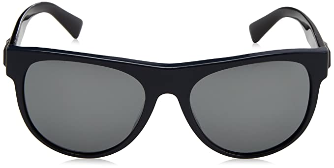 Versace Herren Sonnenbrille 0VE4346 52306G, Blau (Bluette/Greymirrorsilver), 57