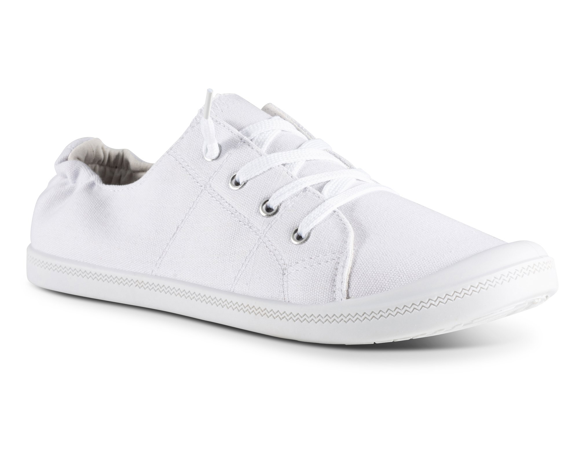 Twisted Womens Andrea Slip-On Canvas Sneakers - ANDREA05 White, Size 8 by Twisted