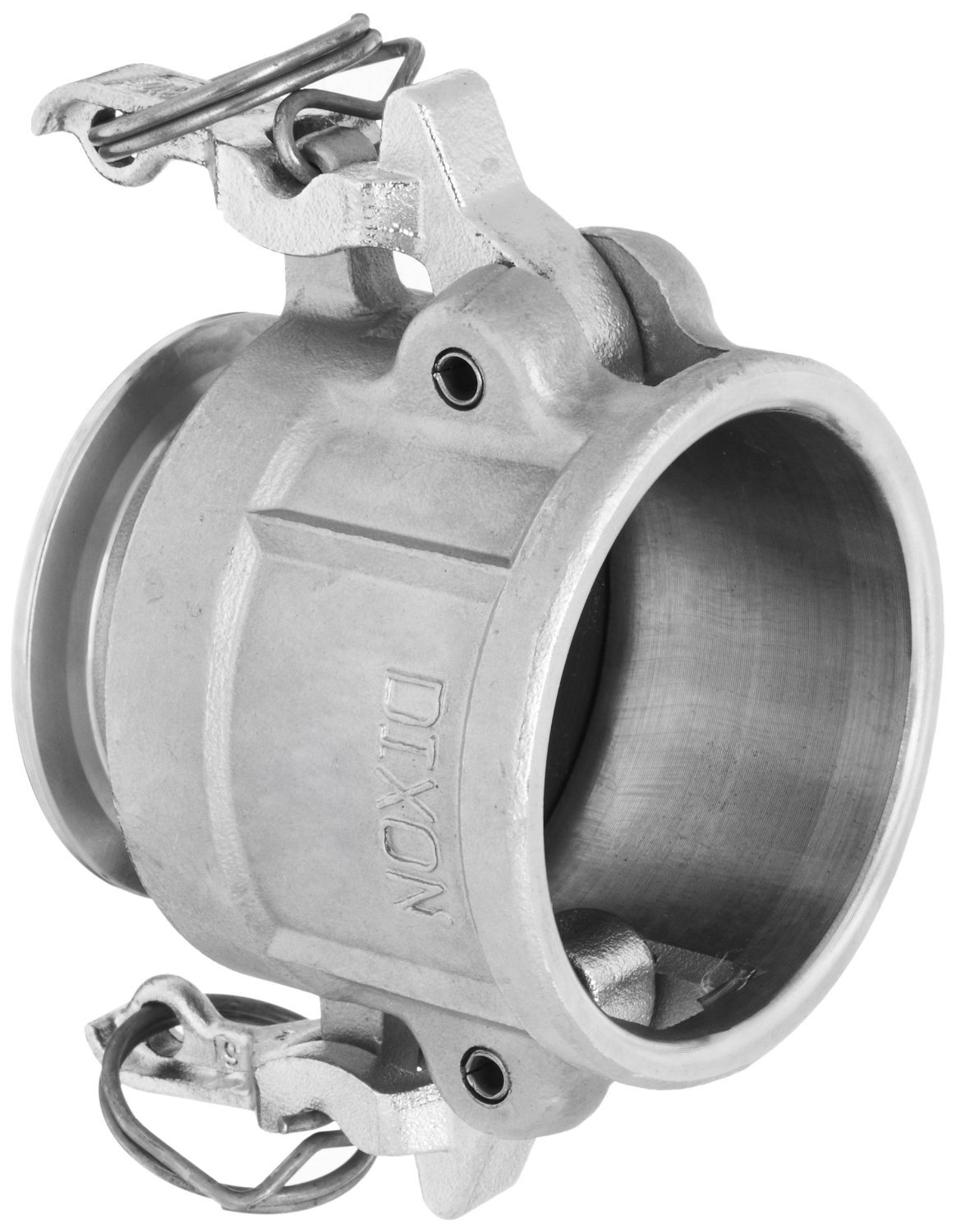 Dixon RC300SE Stainless Steel 316 Cam and Groove Transition Sanitary Hose Fitting, 3'' Socket x 3'' Clamp End