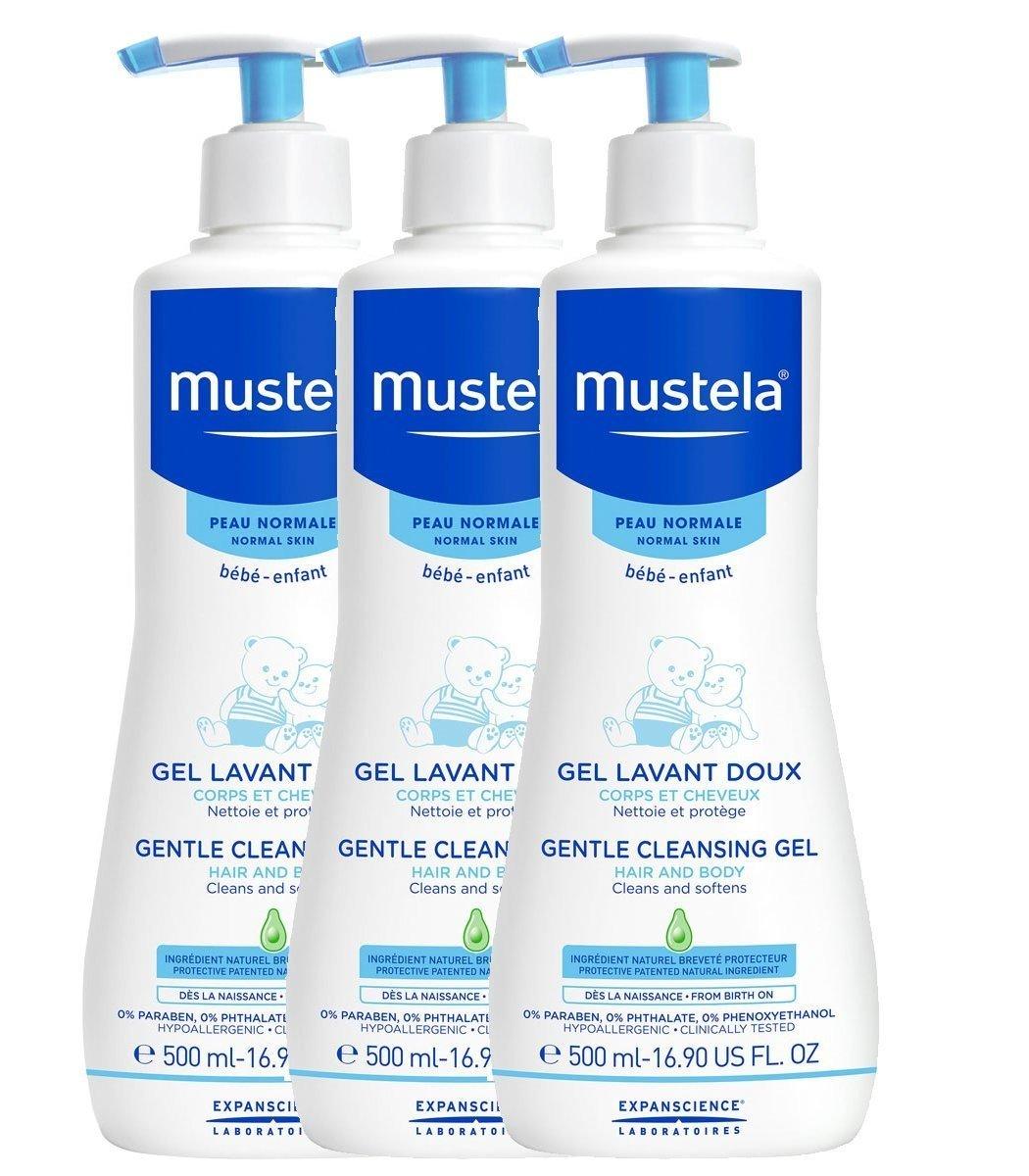 Mustela Gentle Cleansing Gel 3 x 500ml 9657_11142