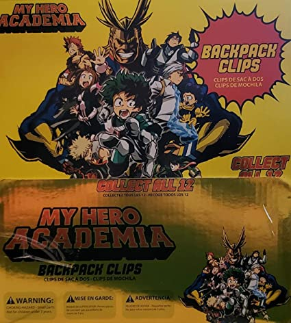 My Hero Academia Backpack Clips - Case of 24 Blind Packs at Amazons Entertainment Collectibles Store