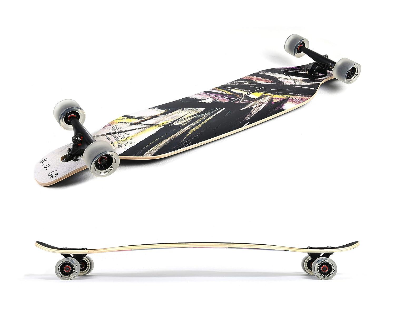WiiSHAM Longborads Skateboards 42 inches Complete Drop Down Through Deck Crusier Pr Speed