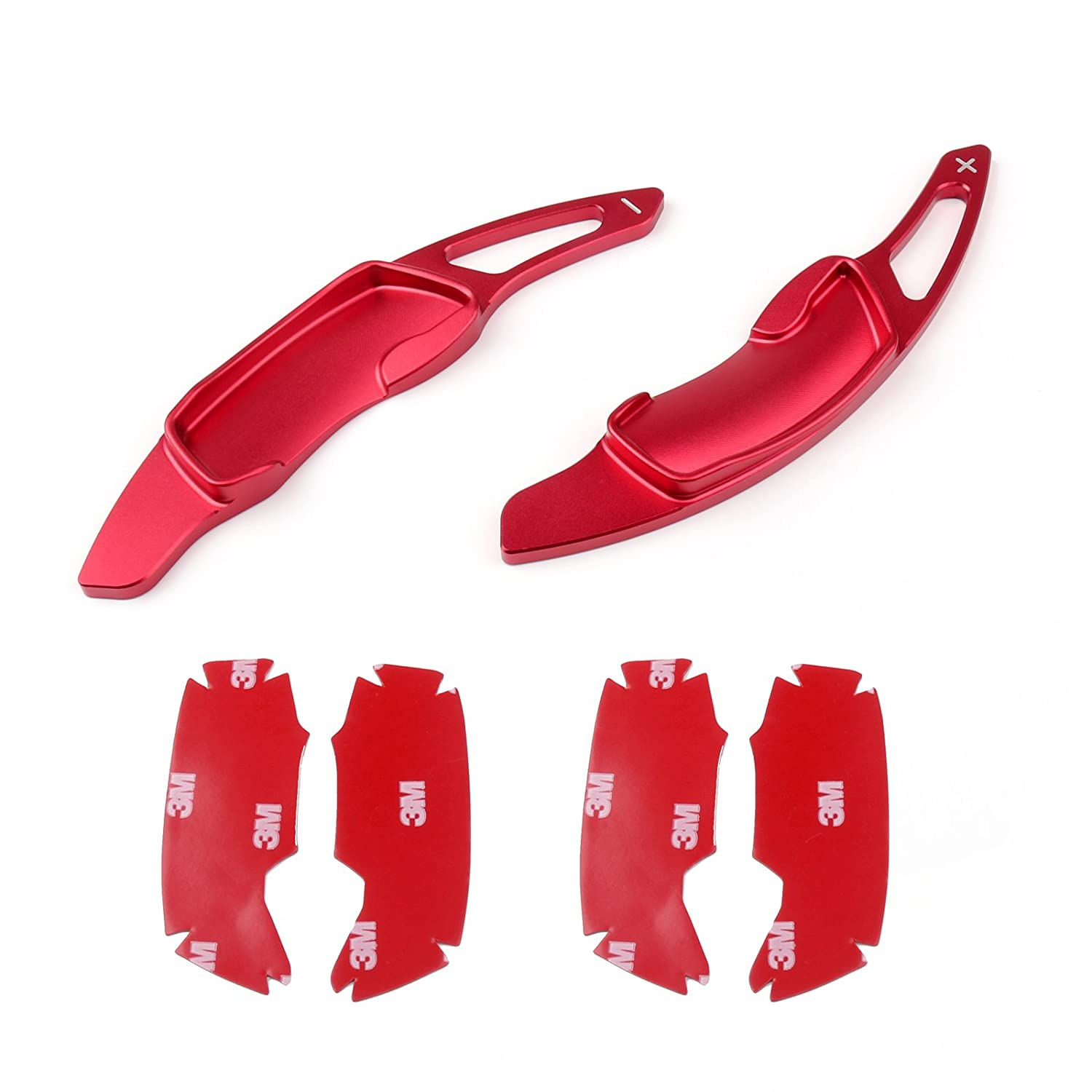 Areyourshop 2X Aluminum Steering Wheel DGS Trim Extension For Subaru BRZ WRX Forester Red
